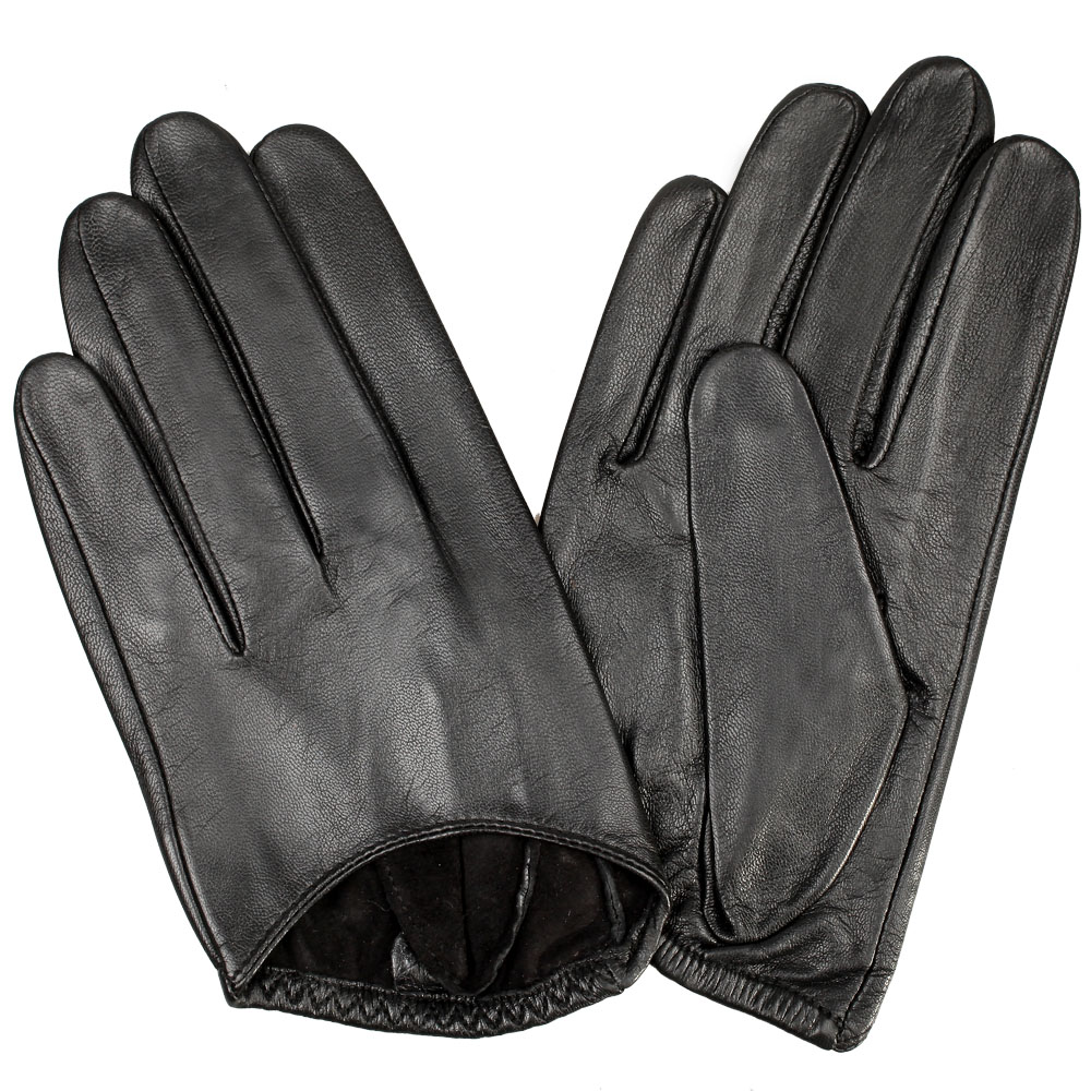genuine leather short lady gloves