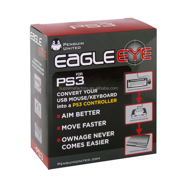 Black Eagle Eye Mouse Keyboard Adapter Converter For Sony PS3 Playstation 3