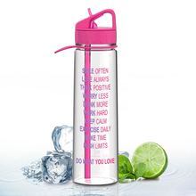 Amazon hot selling plastic food grade drink bottle with time line