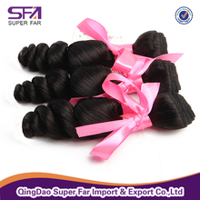 Unprocessed loose wave virgin brazilian curly hair extension for black women