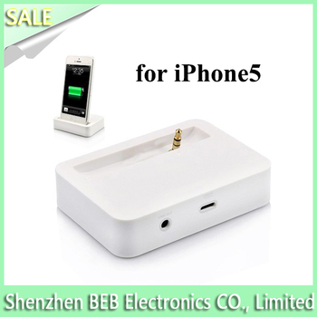 Genuine dock charger for iphone5 from Alibaba's golden manufacture