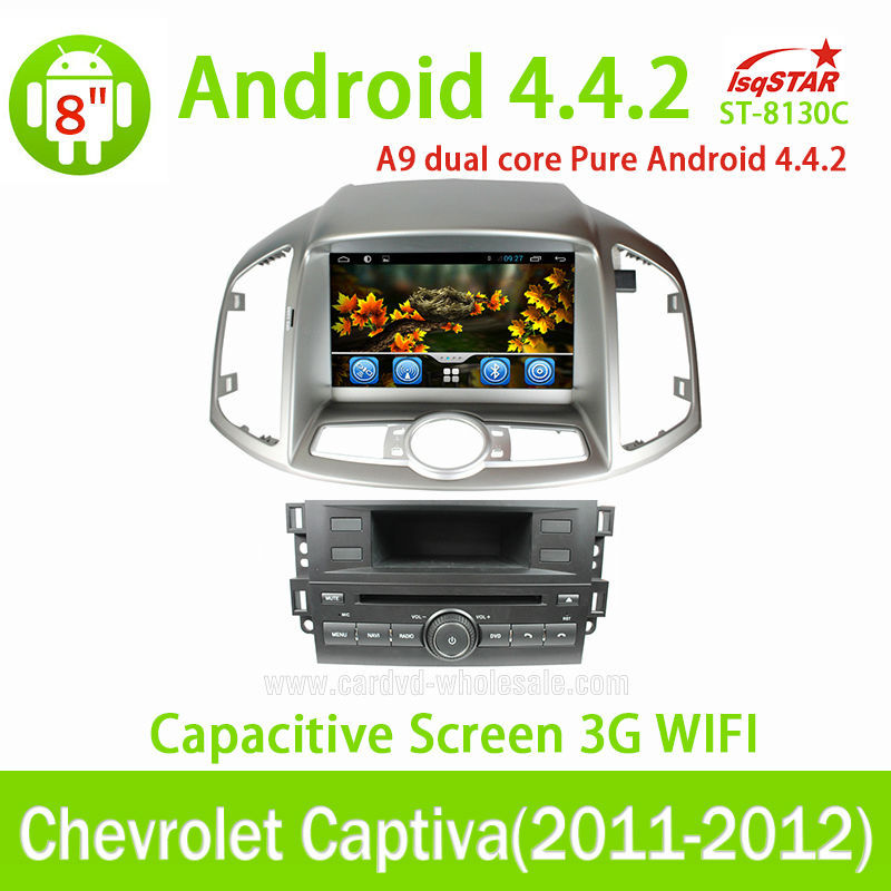 Multi-touch Capacitive Screen 3G internal Wifi for Chevrolet Captiva 2011-2012 Android 4.4.2 auto radio with gps