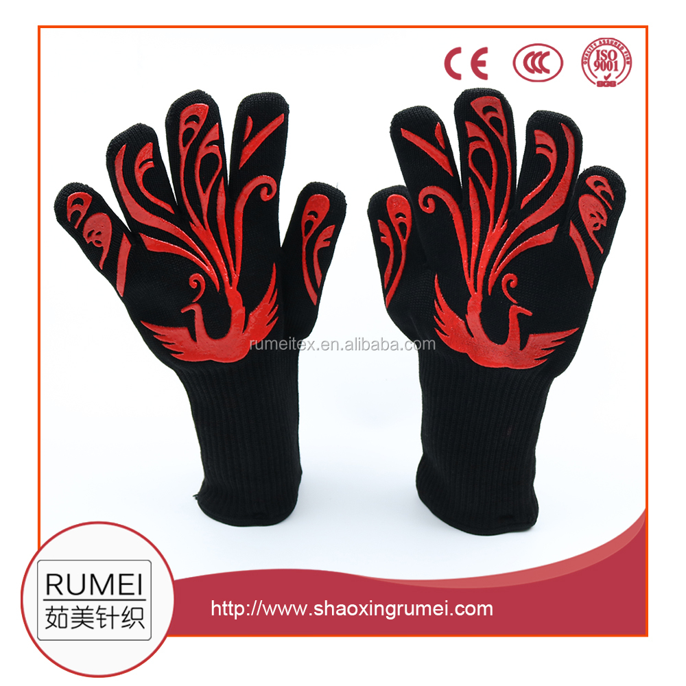 Wholesale YH high quality aramid heat resistant grill gloves