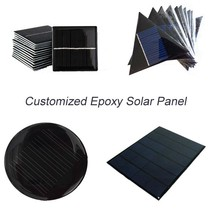 Mini Solar Panel Small cell Module Epoxy Charger With Welding Wire