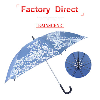 Customized Logo Printed Long Handle Promotional Goft Umbrella