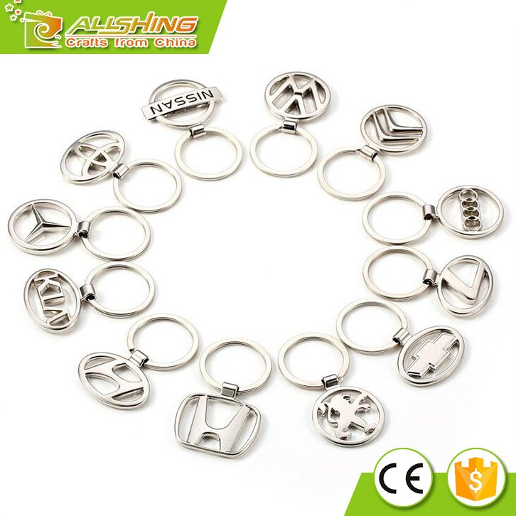 Wholesale promotional cheap Audi car logo keychains /Metal key chains for the car brand keychains