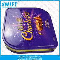 Wholesale Lid Metal Small Tin Boxes With Custom Hinged Metal Tins
