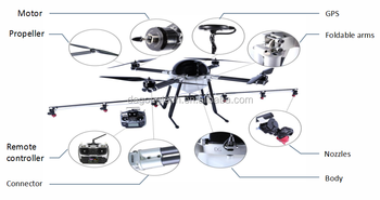 Top level high performance 10L capacity drone sprayer used for pesticide spraying