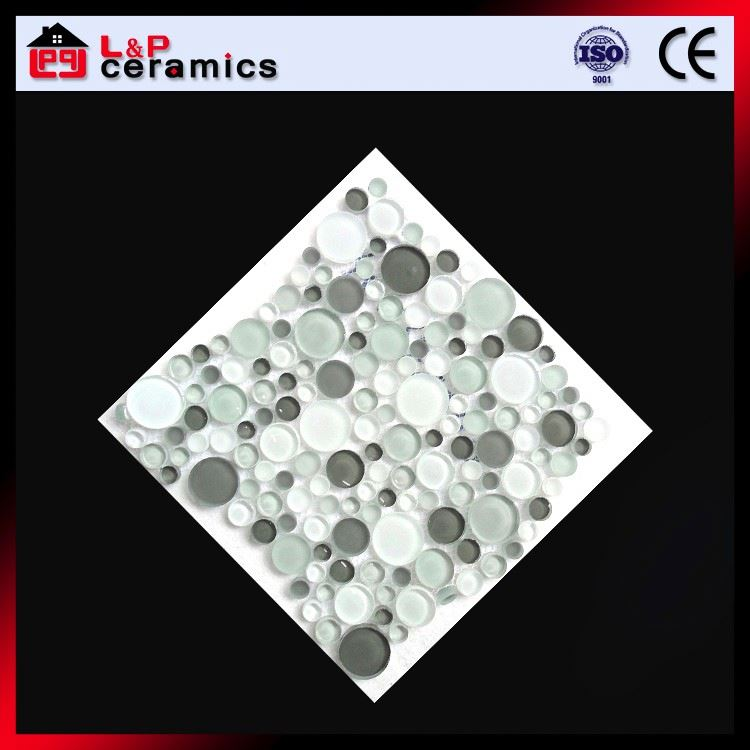 Bubble glass fire resistant glass mosaic tile