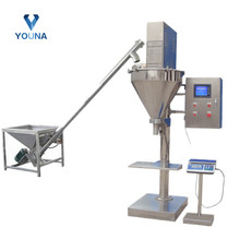 semi automatic powder auger filler screw dry powder filling machine for flour/spices/chilli pepper/chemical powder