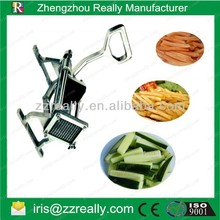 Labor saving wall mounted commercial stainless steel manual french fry cutting machine