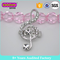 High Quality Rhinestone Crystal Music Note Brooch and Pin