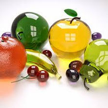 Home decoration fake glass fruits and vegetables model