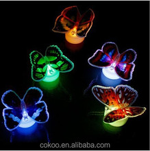 LED optic fibre butterfly with petal night light for Party