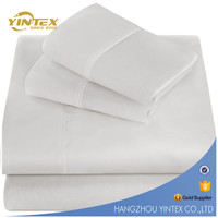 100% polyester home/hotel textile fabric bed sheet