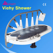 SW-707S Hot sale Wooden spa vichy shower table showers massage