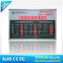 indoor bank led currency exchange board