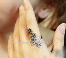 European and American fashion female flower ring new design finger ring