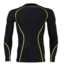 Mens Padded Fitness Sports Compression Shirt