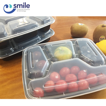 Upscale 1000ml microwave disposable 4-compartment food container