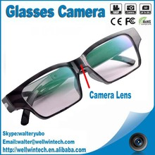 2015 New Invisible Lens 1080P Full HD Eyeware Glasses Camera Clear Glasses Camera V15