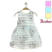 girls casual frock designs flower printed stripe style dresses for girls baby girl frock patterns