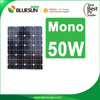 Bluesun mono 50W solar panel with complete certificates for lighting system