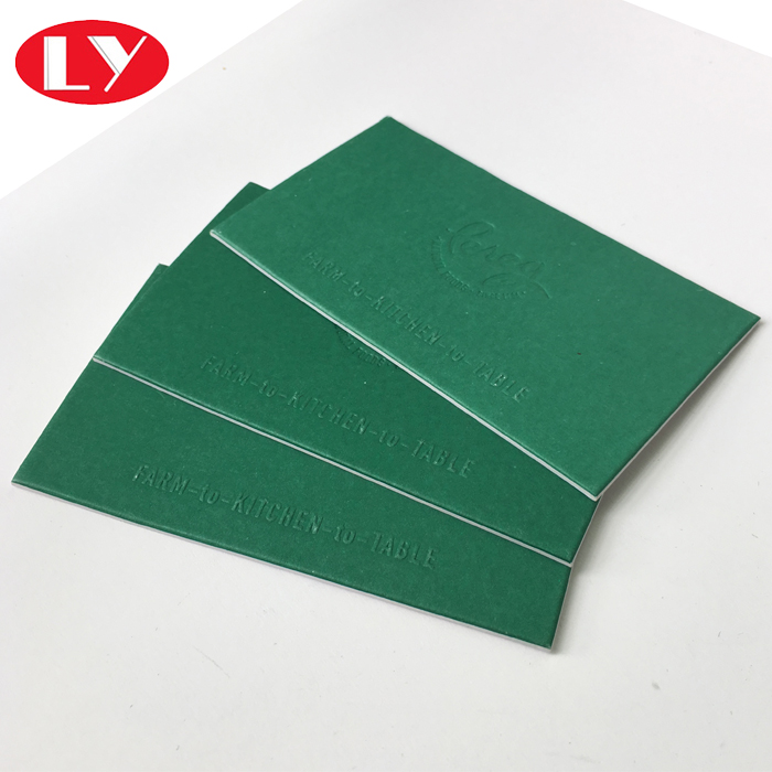 Recycle Embossed Letterpress Business Cards Printing