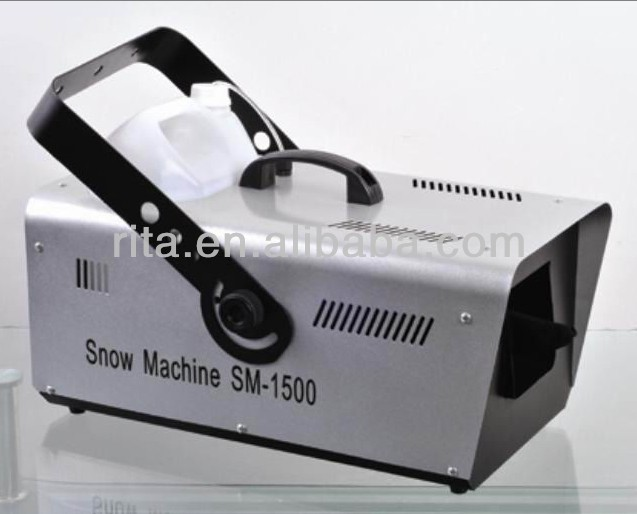 1500W DMX512 snow machine;AC110V/220W input