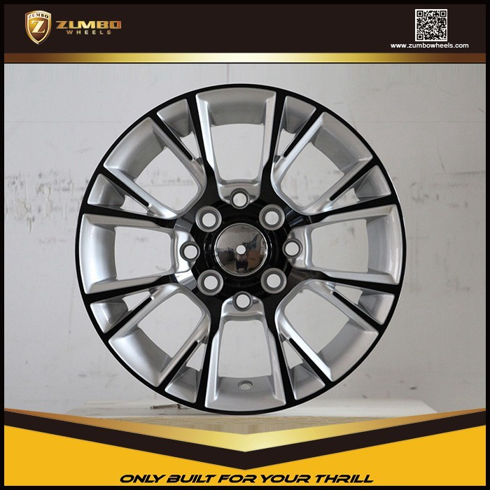 "ZUMBO F6831 13"" Silver Machine Face+Black Cataphoresis,13 Inch Car Alloy Wheels"