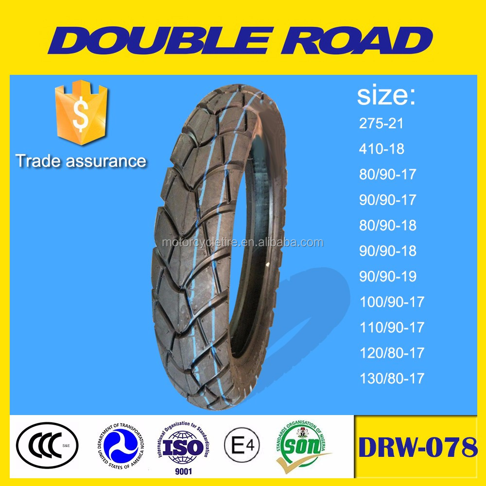 Chinese cheap tubeless motorcycle tire distributor size 80/90-18