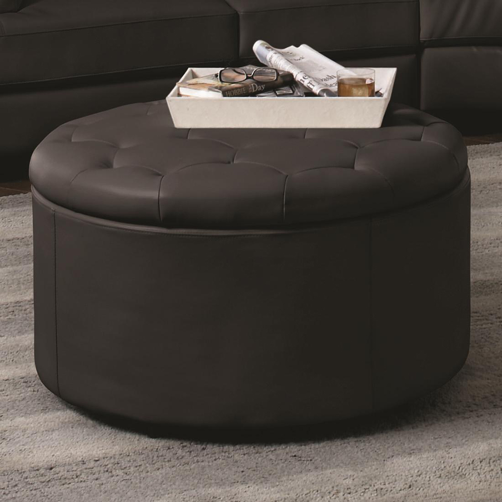 New design coffee table ottoman storage round ottoman stool for living room furniture and hotel