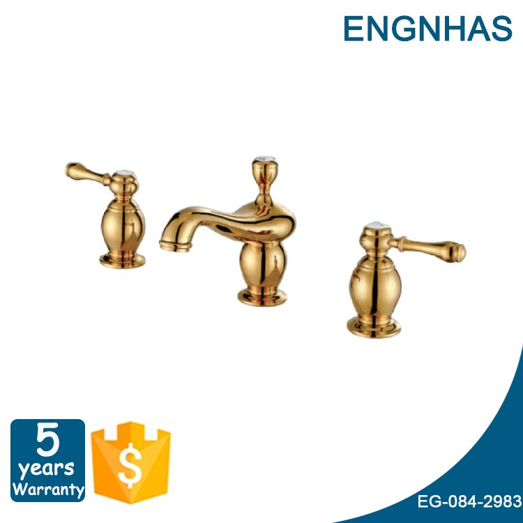 China supplier cuisine brass tapware brass body dual handle antique faucet with high quality