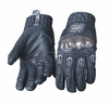 Leather Gloves Black Manufacturer Off-road Riding Full Finger Gloves Motorcycle Racing Cycling Gloves