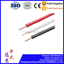 TW THW copper awg cable and wire 8 10 12 14 16 18 20 22 AWG copper cable