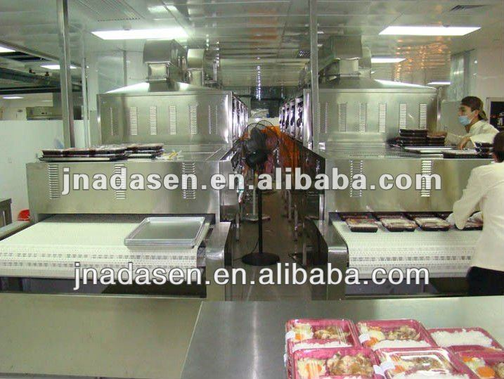 Industrial microwave heating machine for snack