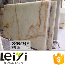 1.5cm onyx marble for white color and polished face