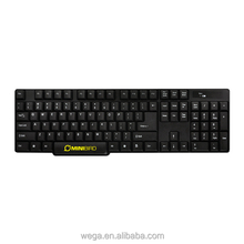 cheapest USB 2.0 black chocolate key caps qwertz azerty layout wireless cordless 2.4g keyboard for combo set