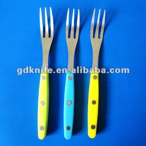 stainless steel colorful handle dinner fork set