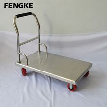 kitchen medical tool cleaning tea food cart flatbed trolley wheel tools 4 wheel hand trolley shopping cart