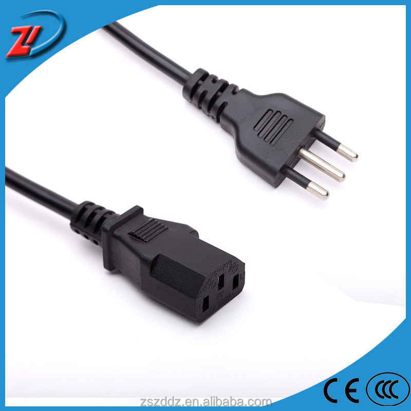 ZD D31 3 Round pin Italy standard plug power extension cord extend power cable for pc wholesale ac power