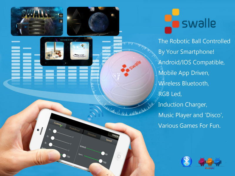 2017 CES App Wireless Control Sphero Similar Swalle Waterproof Robotic Ball