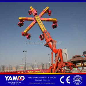 Yamoo Amusement Park Outdoor Equipment Wind Fire Wheel /Techno Power Adults Model Carnival Thrill Rides For Sale