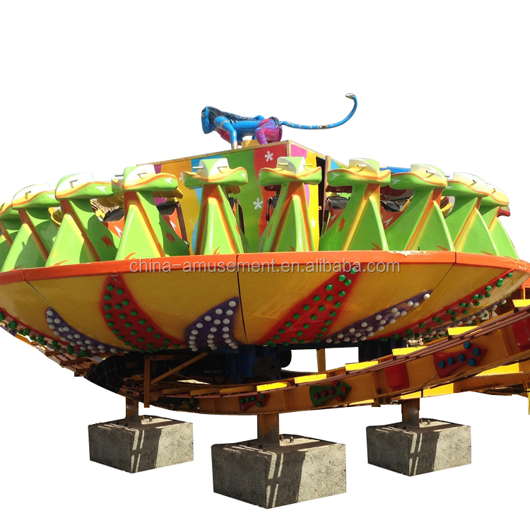 Fairground theme park products of thrilling rides outdoor amusement park flying ufo for sale