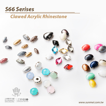waterdrop sew on acrylic rhinestones for clothes crystal stones