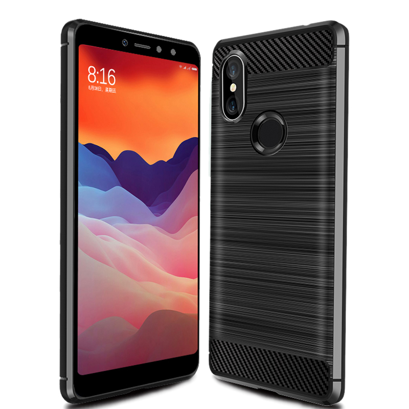 2019 Trending carbon fibre carbon fibre tpu phone case For xiaomi redmi <strong>Y2</strong> fancy mobile phone covers