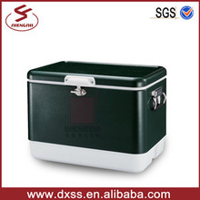 Popular Multifounction Durable Metal Retro Ice Vintage Cooler Box