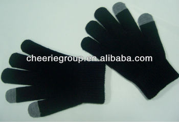 New Black Touch Screen gloves