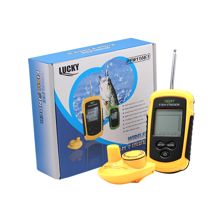 Lucky portable wireless fishfinder transducer hot sale fish finder sonar for outdoor sport
