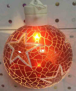 Battery powered LED hanging ornament for home decor